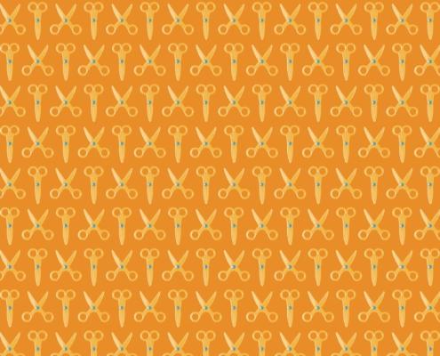 Scissors Pattern Design E-31-15-6