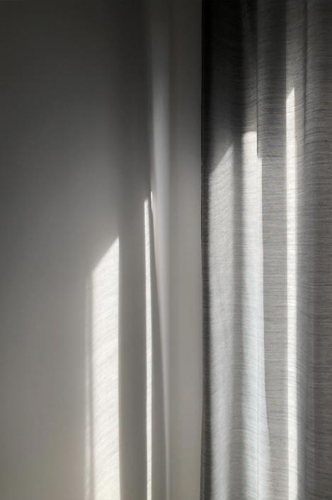 Shadows on curtain